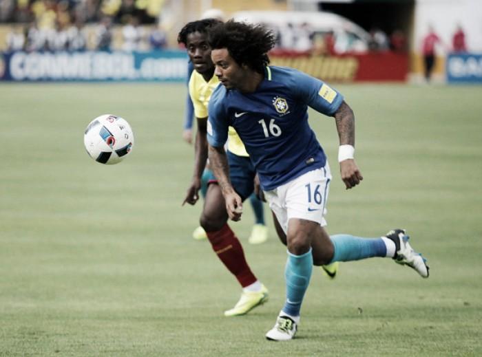 """Marcelo reconhece dificuldade contra Equador: """"Resultado não diz o que foi o jogo"""""""