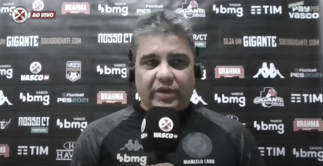 Marcelo Cabo lamenta nova expulsão de Bruno Gomes após derrota do Vasco