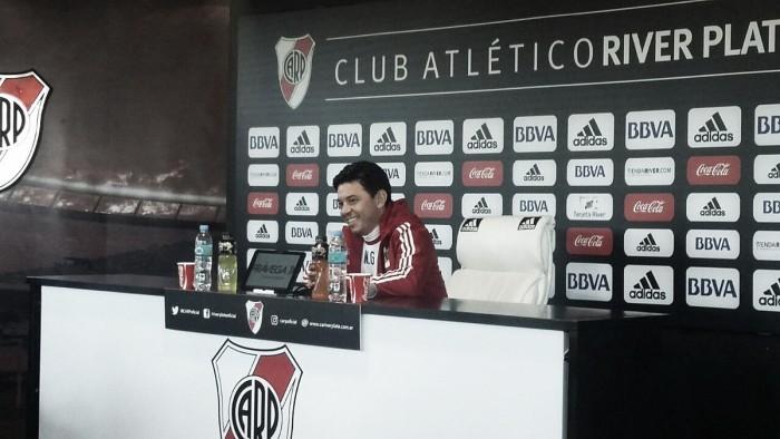 """Marcelo Gallardo: """"Queremos seguir marcando la historia de este club tan prestigioso"""""""