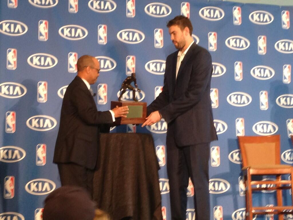 Marc Gasol é eleito o defensor do ano na NBA