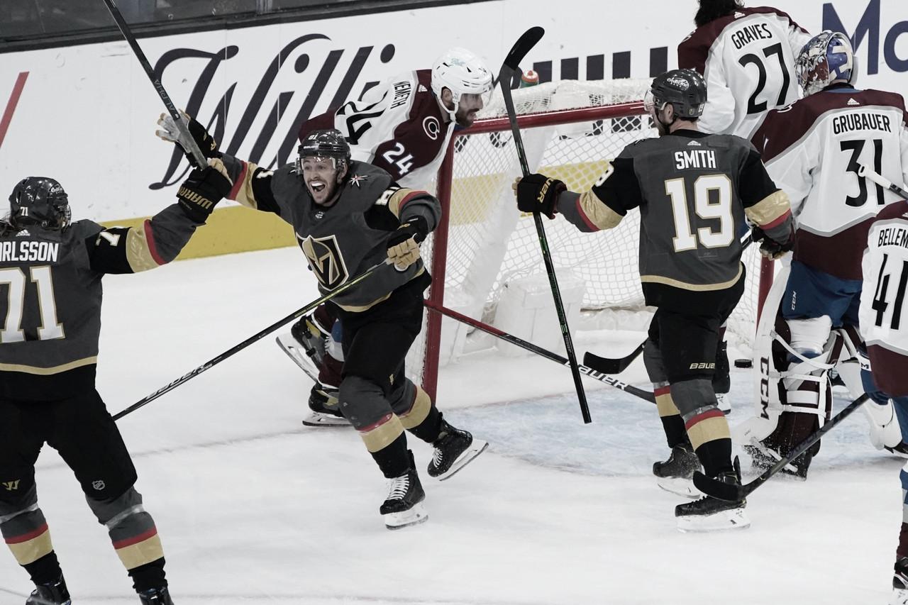 Vegas empató la serie ante Colorado, gracias al hat trick de Marchessault