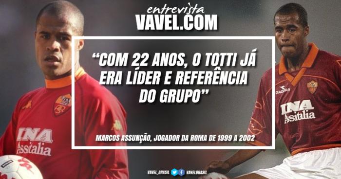 """Entrevista: Marcos Assunção relembra momentos com Totti: """"Contribuí na maior conquista"""""""