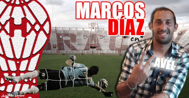 """Entrevista.Marcos Díaz: """"Mi único objetivo es ascender con Huracán"""""""