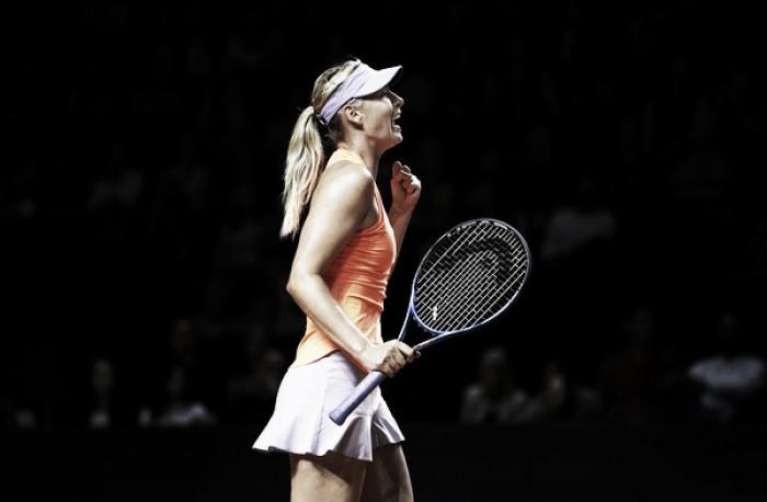 WTA Stuttgart: Sharapova survives early scare, slides past Makarova into last eight