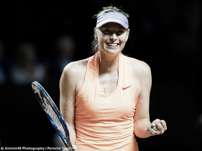 WTA Stuttgart: Sharapova survives late charge from Kontaveit to advance to semis