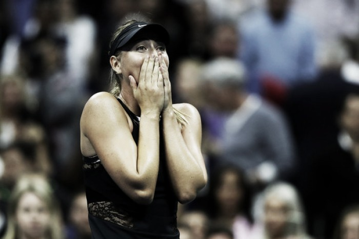 US Open: Sensational Sharapova knocks out Halep in late-night thriller