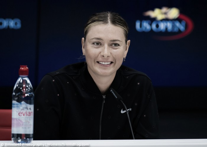 "US Open: Upbeat Maria Sharapova feeling ""thankful"" and ""happy"" despite fourth-round exit"