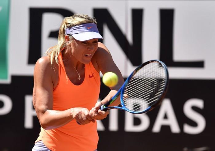 WTA Roma 2017, il programma di martedì: Sharapova - Lucic, la Vinci apre con la Makarova