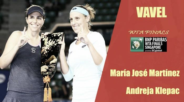 WTA Finals 2017. María José Martínez y Andreja Keplac: la yeclana, de nuevo en la élite