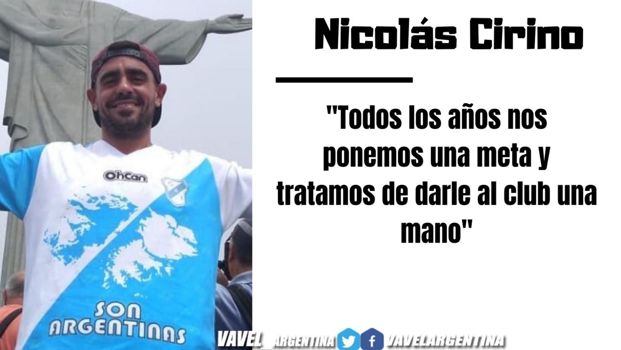 Nicolás Cirino: ''Nos sorprende que en la situación difícil en la que estamos la gente siga ayudando''