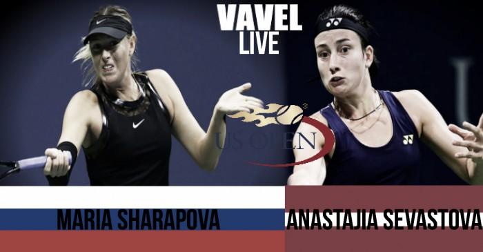 Maria Sharapova vs Anastasija Sevastova Live Stream Commentary and Updates of the 2017 US Open Fourth Round (1-2)