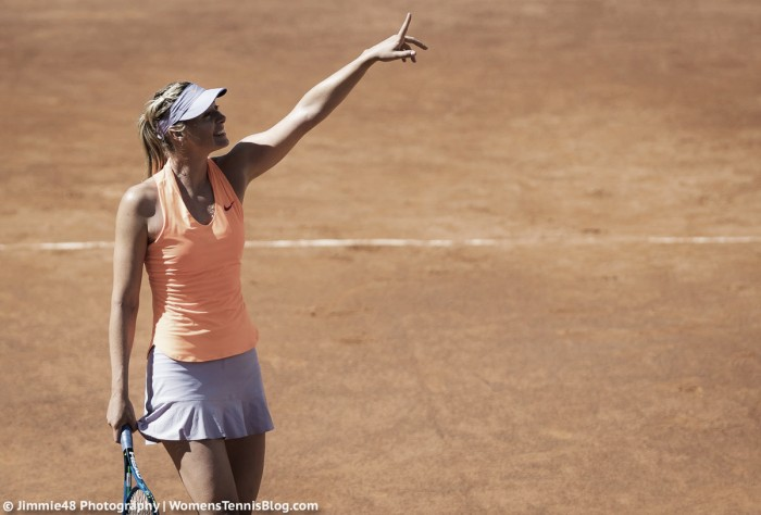 WTA Rome: Maria Sharapova gets past a tricky first round opponent