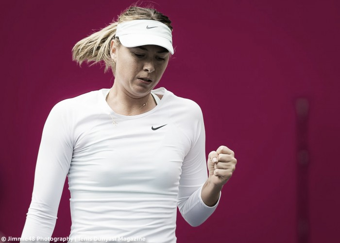 Sharapova advances in rain-delayed Tianjin Open