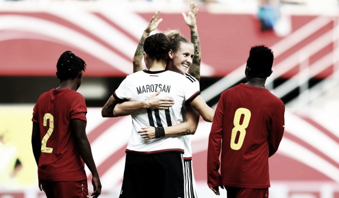 Germany 11-0 Ghana: Mittag fires four as hosts stroll to easy win