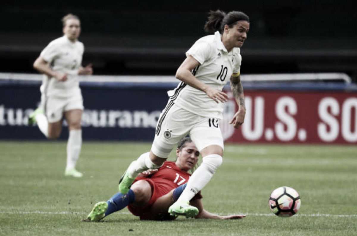 Final result Germany 2 - 2 England from the 2018 SheBelieves Cup
