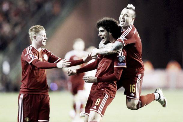 Manchester United's Marouane Fellaini pulls out of Belgium squad through injury