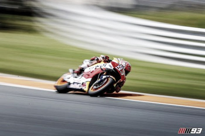 Marc Marquez' strategy pays off after a wet and action packed MotoGP race in Sachsenring