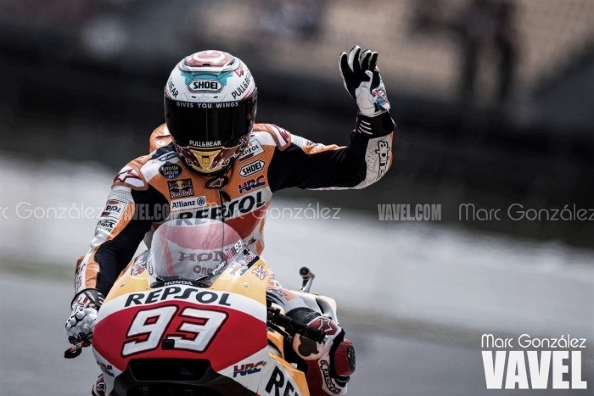 MotoGp Austria: Marquez domina le seconde libere bagnate