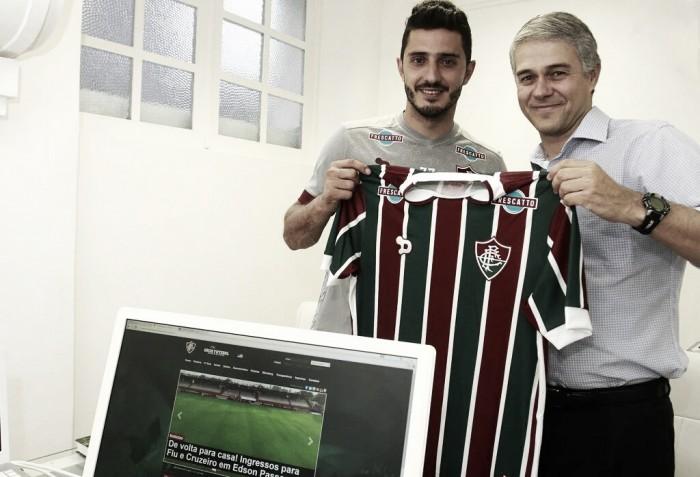 """Fluminense anuncia retorno do meia Marquinho: """"Estou feliz de voltar para casa"""""""