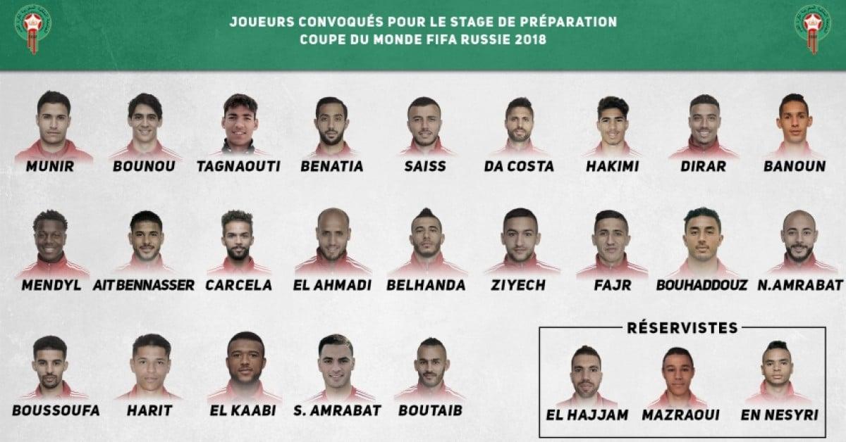 Liderados por Benatia e sem Boufal, Marrocos divulga 23 convocados para Copa do Mundo