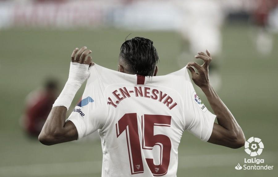 """Youssef En-Nesyri: """"Teníamos que ganar estos tres puntos para acercarnos a la Champions"""""""