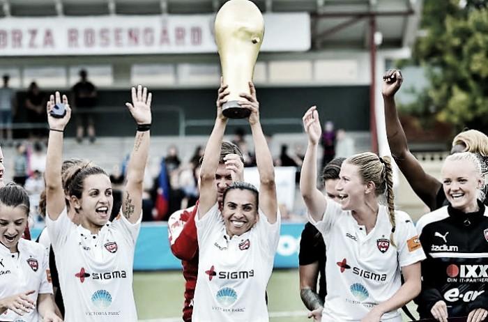 Marta brilha e Rosengård leva título da Copa da Suécia Feminina após 19 anos