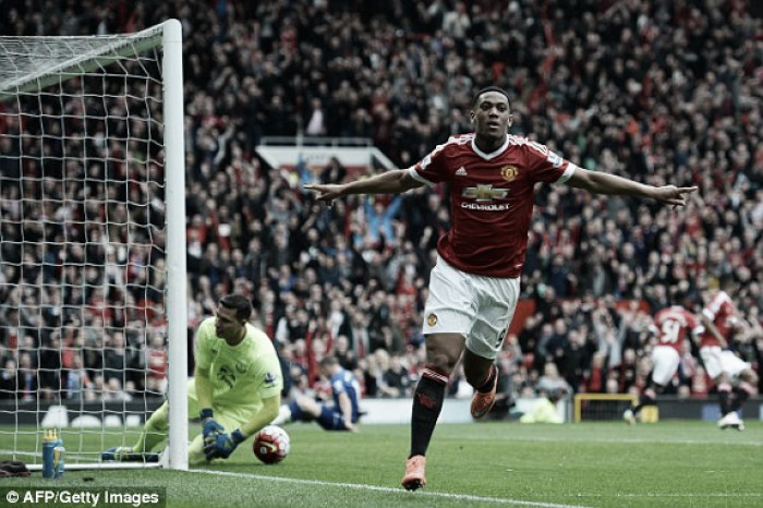 Manchester United 1-0 Everton: Martial scores Reds' 1000th home league goal to keep pressure on rivals
