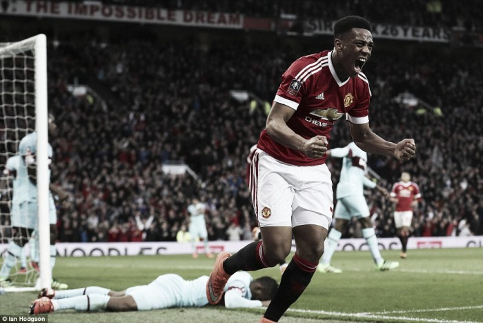 Manchester United 1-1 West Ham United: Late Martial strike saves replay for Red Devils