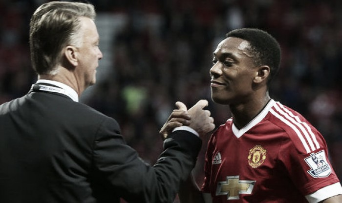 Anthony Martial has learnt to laugh at a yelling Louis van Gaal