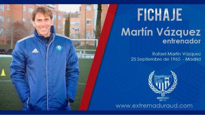 Martín Vázquez se convierte en el cuarto entrenador del Extremadura esta temporada
