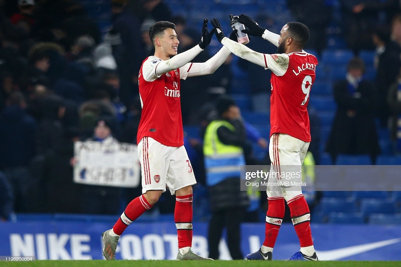 Chelsea 2-2 Arsenal: Martinelli and Bellerin rescue a point for Arteta's gritty ten-man Gunners