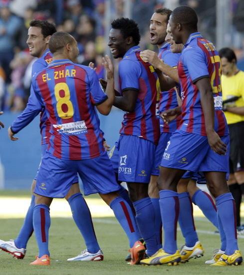 "Un ""Ciutat"" en celebración ve ganar a un buen Levante"