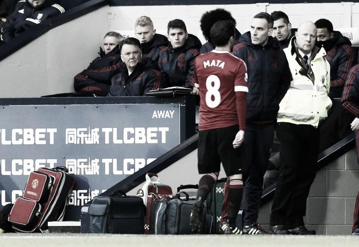 Louis van Gaal bemoans Mata's pivotal sending off as United are beaten