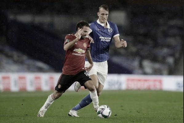 Com destaque para Juan Mata, Manchester United vence Brighton & Hove e avança às quartas da Copa da Liga Inglesa