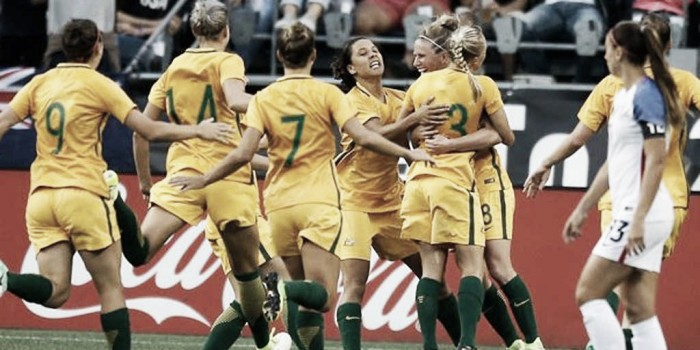 Australia wins the Tournament of Nations with a 6-1 victory over Brazil