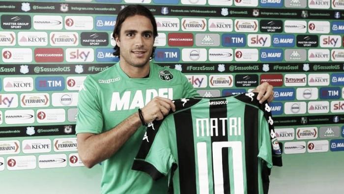 Sassuolo, Matri verso l'esordio dal primo minuto in campionato contro la Juventus