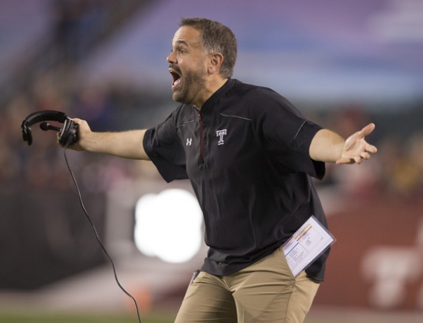 Rumor Mill: Temple Head Coach Matt Rhule To Visit Mizzou On Sunday?