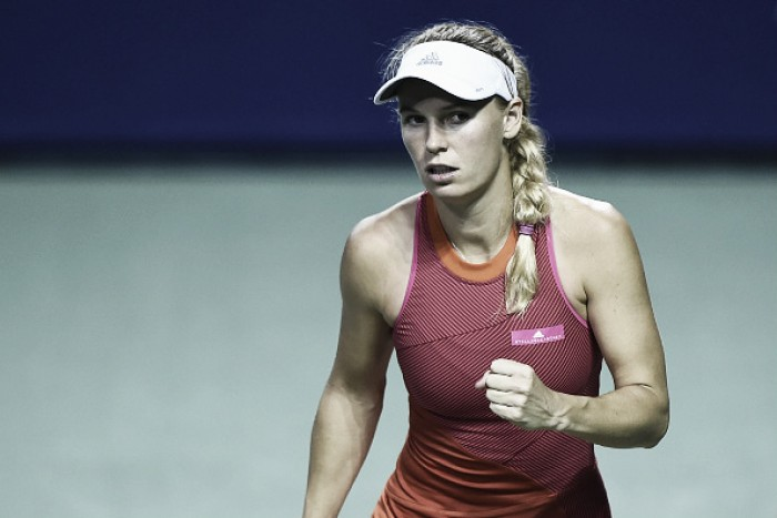 WTA Tokyo: Caroline Wozniacki progresses as Dominika Cibulkova retires