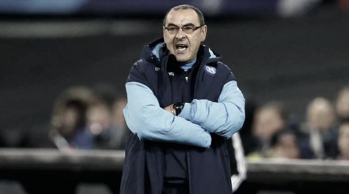 """Sarri: """"Empezamos el partido con más nerviosismo que de constumbre"""""""