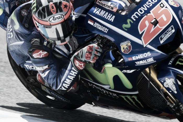 MotoGP, Vinales torna in vetta nel warm up: bene la Ducati di Lorenzo, si nascondono le Honda