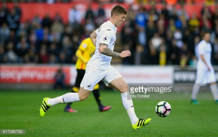 Promising Swansea star Alfie Mawson makes England Under 21s debut