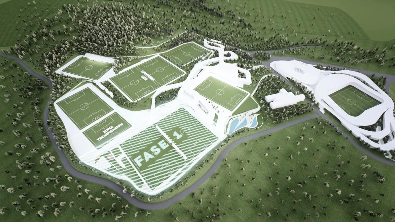 Animación de una vista futura de la nueva ciudad deportiva. | Foto: RC Celta.
