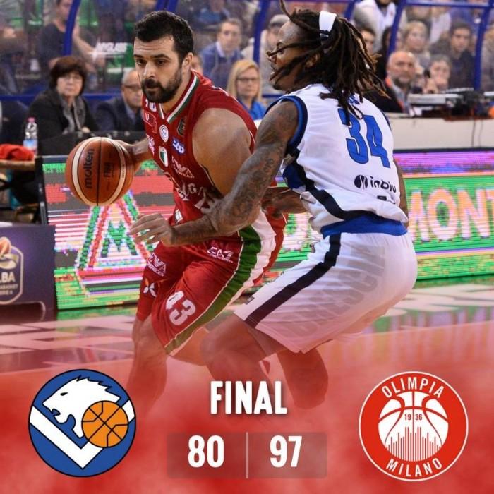 Milano suona l'ottava! Sconfitta anche Brescia 80-97