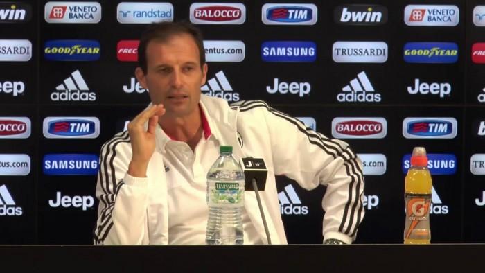 """Juve, Allegri verso il Bologna: """"Servono testa e tecnica. Giocherà la formazione migliore"""""""