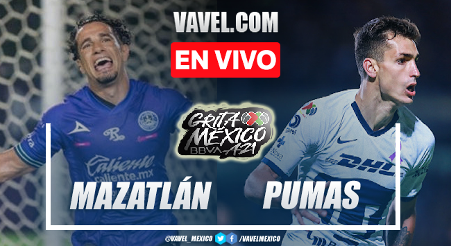 Goles y resumen del Mazatlán 2-2 Pumas en Liga MX