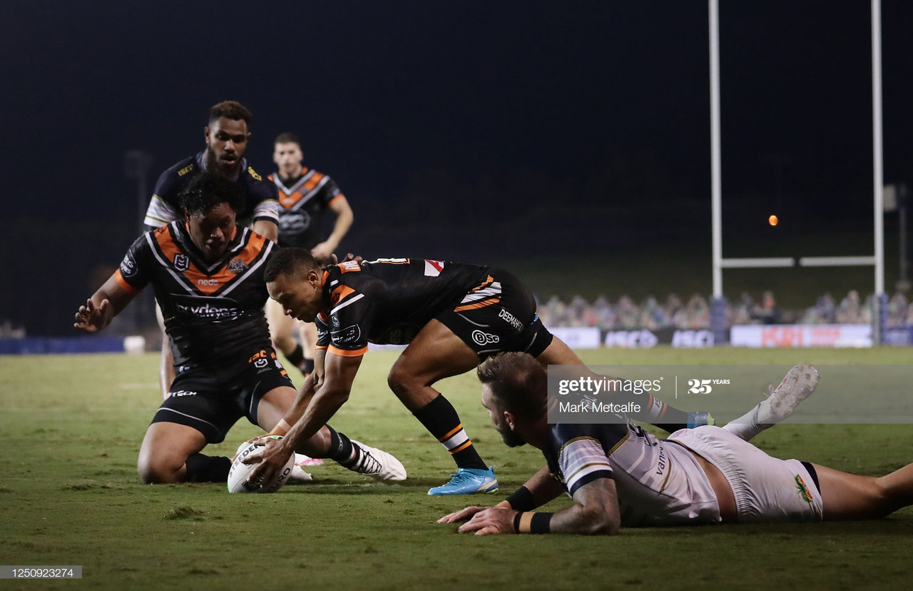 Wests Tigers 36-20 North Queensland Cowboys: Tigers hold on after six-try first half haul