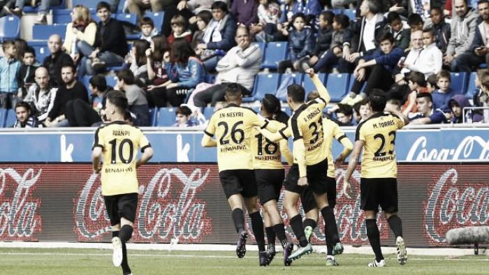 Roberto Rosales anota su primer gol en La Liga con el Málaga CF tras 84 partidos