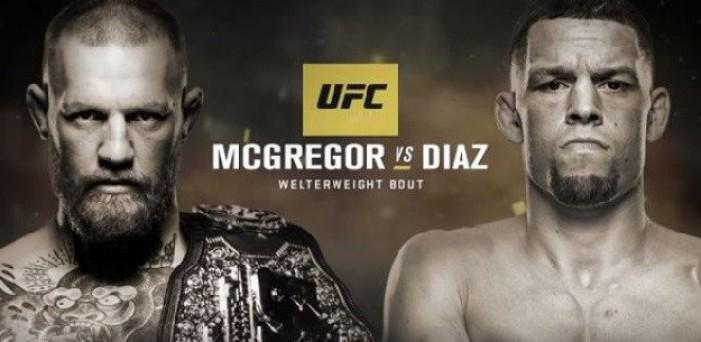 UFC 202 tem revanche entre McGregor e Diaz