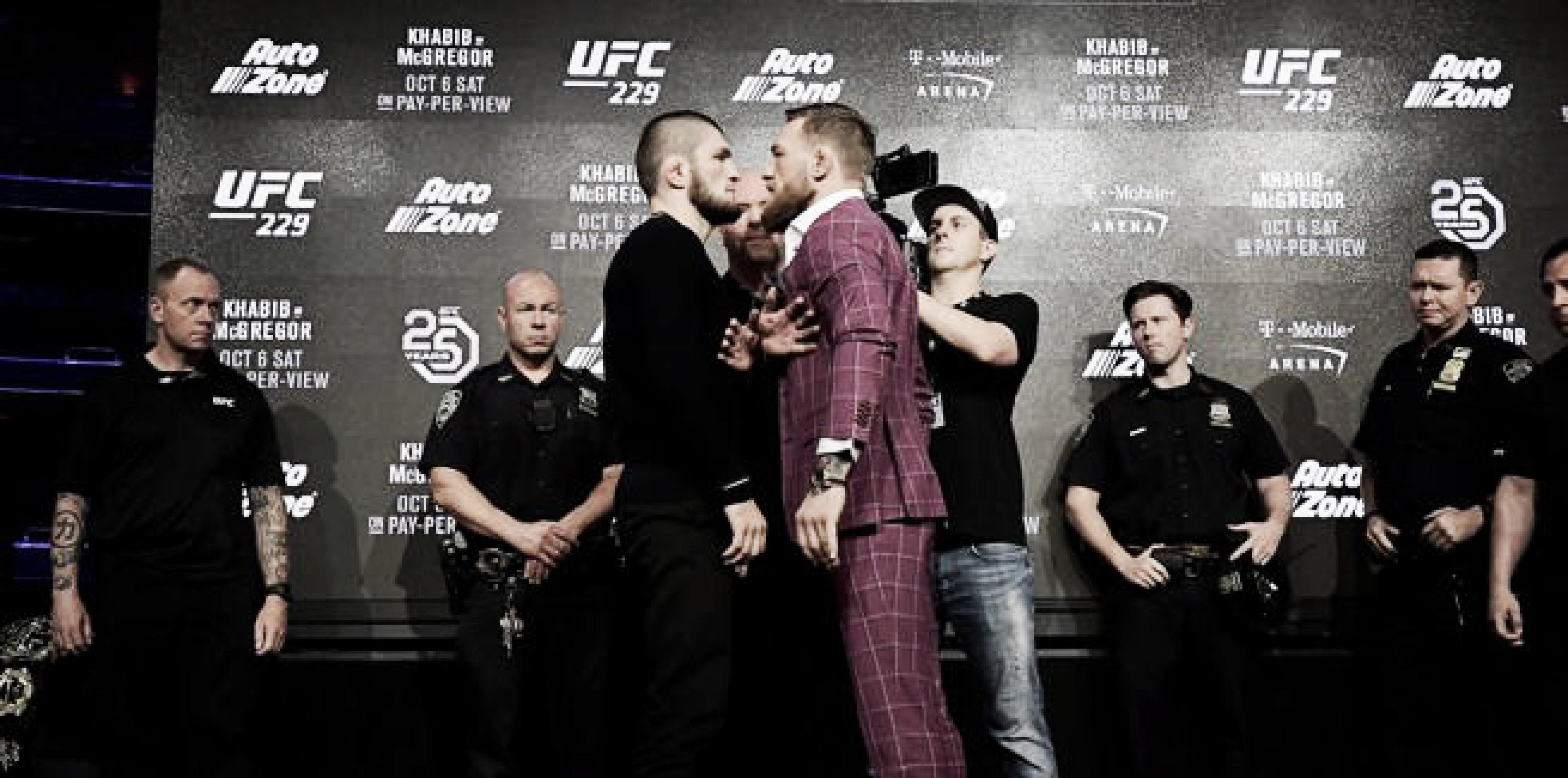 McGregor y Khabib calentaron la previa de UFC 229