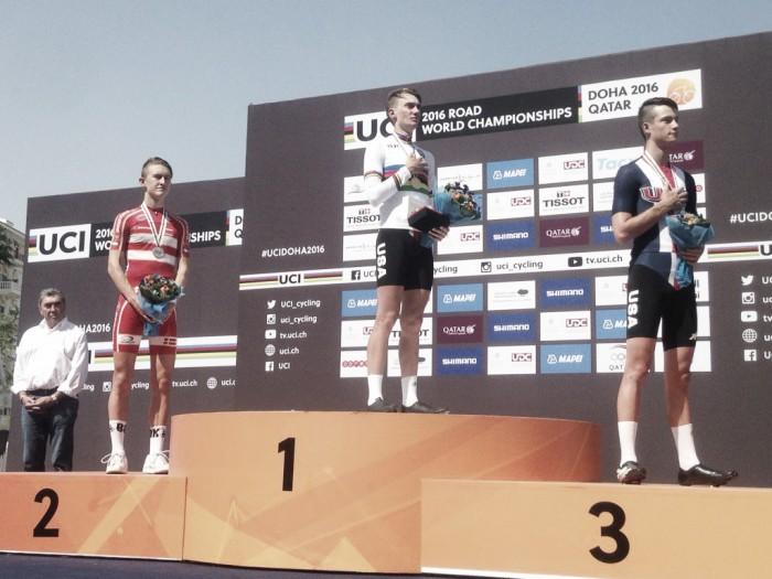 Mondiali ciclismo: nella cronometro juniores trionfo per McNulty, crollo Italia